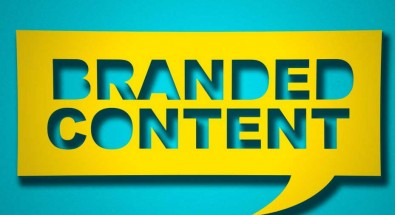 branded content written with yellow background